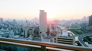 生駒山からの朝日
