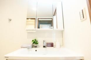 ●実用的に収納ができストックしておきたい高さのある物から小物まで幅広く収納出来ます●洗面化粧台新調