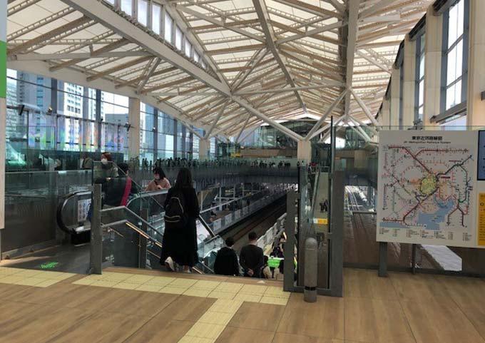 高輪ゲートウエイ駅隈研吾建築日本折り紙をイメージ