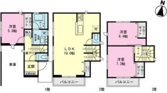 建物面積:106.78㎡(29.16坪)(車庫面積:12.14㎡含む)
